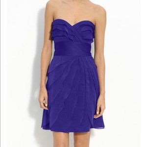 Adrianna Papell Royal Blue Tiered Strapless Dress